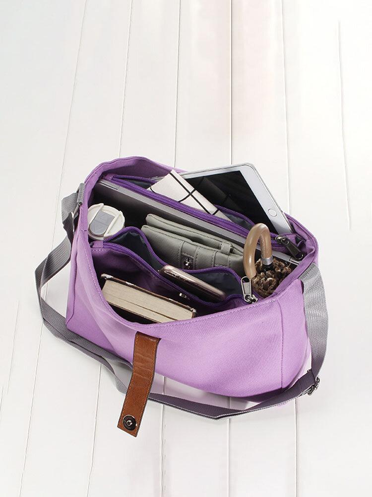 Canvas Casual Capacity Travel Storage Bag Shoulder Bag Crossbody Bags