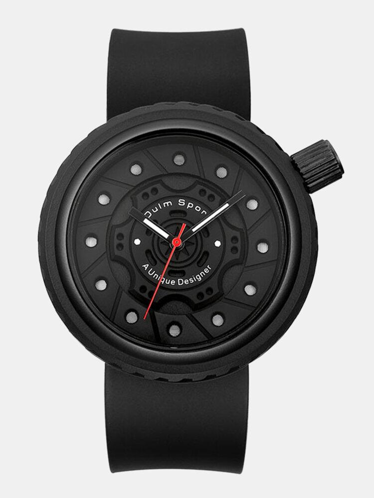 Silicone Men Business Watch Unique Design Dial Waterproof Quartz Watch