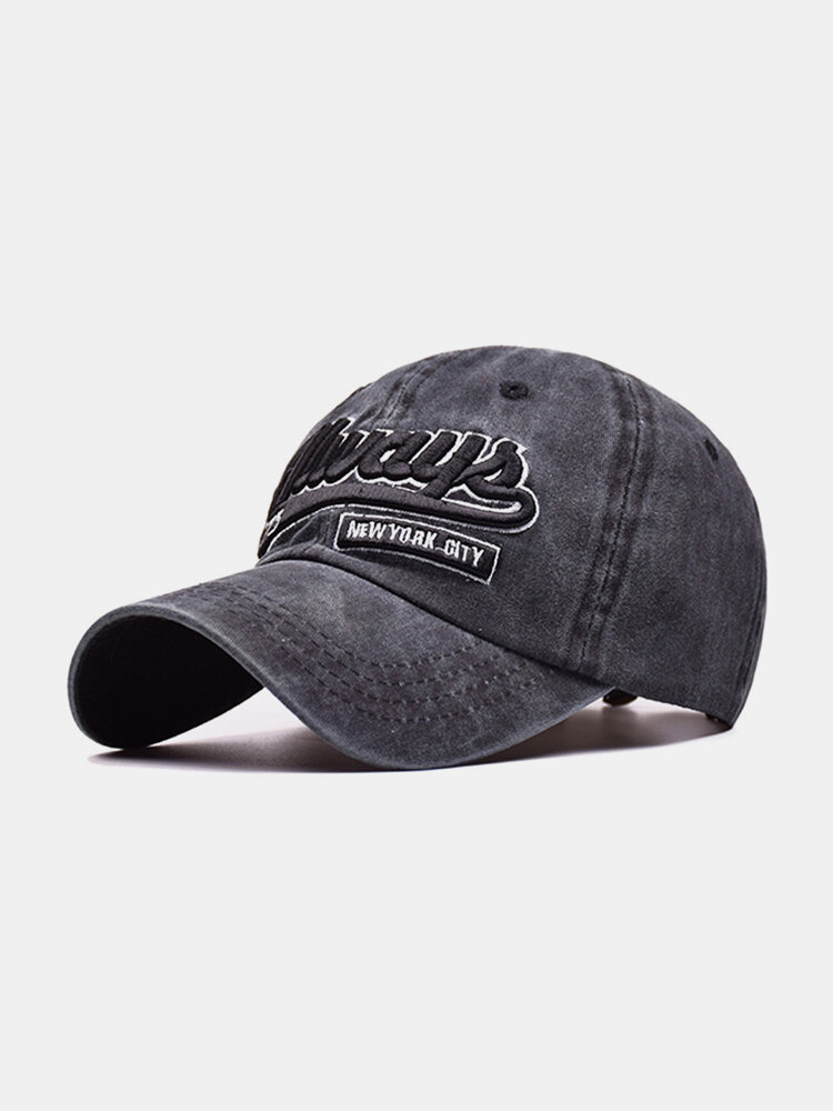 Men Women Cotton Washed Sunshade Always Embroidery Baseball Cap Hip-hop Adjustable Hat Snapback Cap