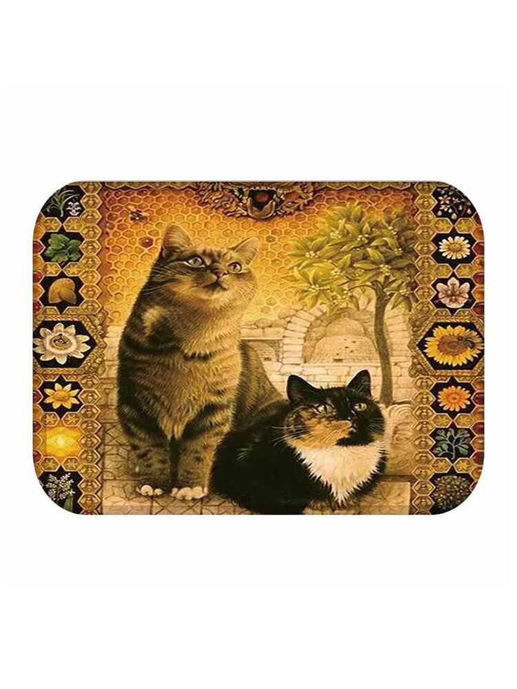 Alfombra de entrada con estampado de gato, alfombra de cocina, entrada Cuarto de baño, alfombras de cocina, alfombras, alfombra, decoración del hogar