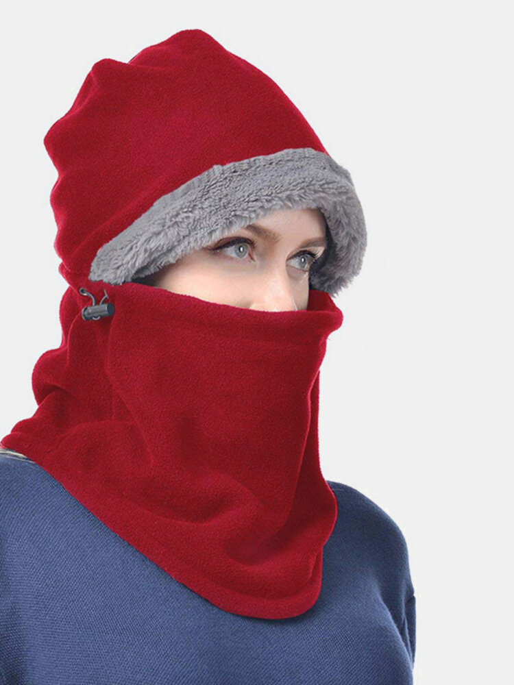 Men Women Warm Hunting Face Mask Cap With Earmuffs Hooded Scarf Windproof Warmer Cap With Neck Flap