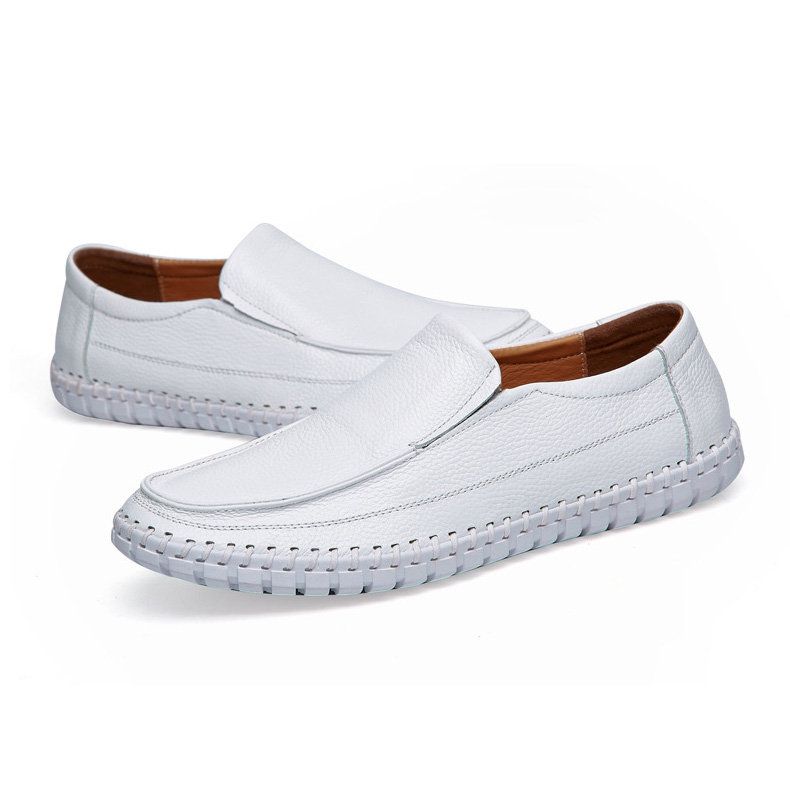 Large Size Hand Stitching Soft Sole Slip On Casual Driving Loafers