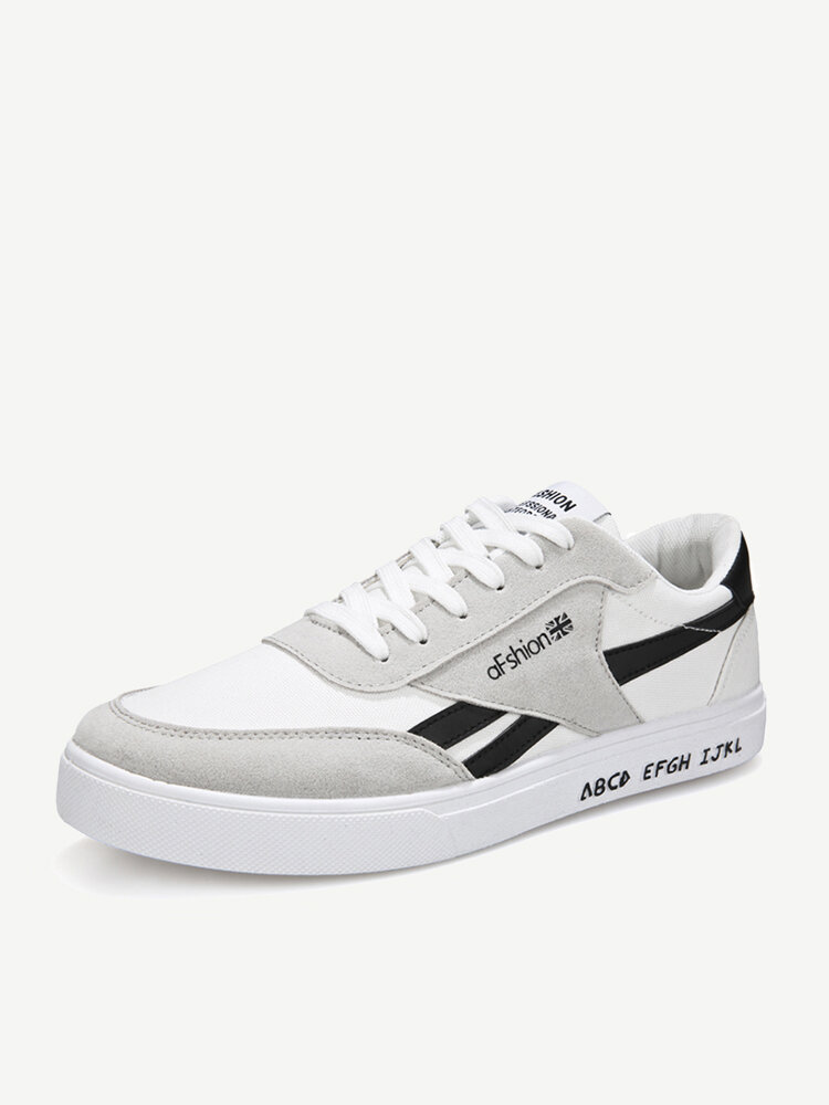 Mens Breathable Canvas Low Top Sport Casual Trainers