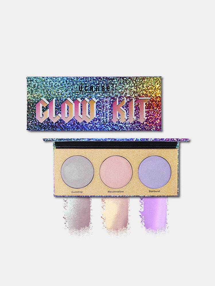 UCANBE Chameleon Highlighter Makeup Palette Shimmer Hologhaphic Highlighting Bronzer Glow Kit Cosmet