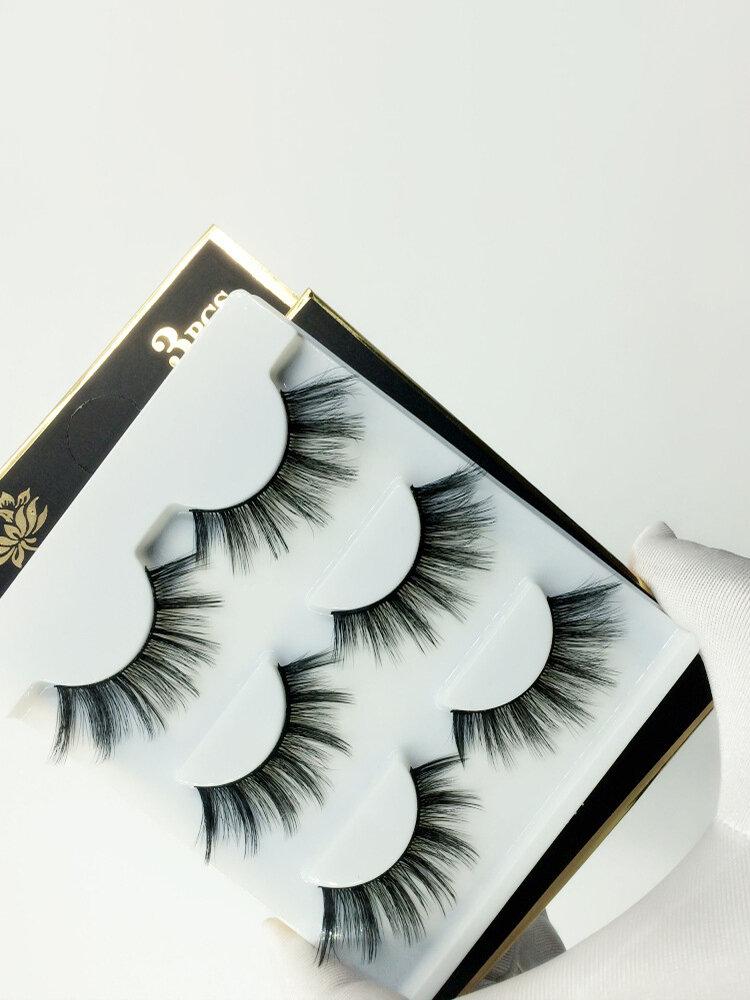 3D False Eyelashes Soft Fluffy Thick Handmade Full Strip Lashes Eye Makeup Extension Tools