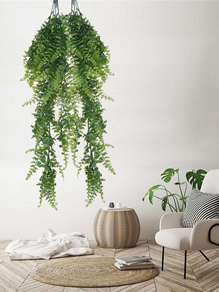 ペルシャの籐の偽花のつるの装飾をぶら下げているペルシャの壁をぶら下げている人工植物の壁