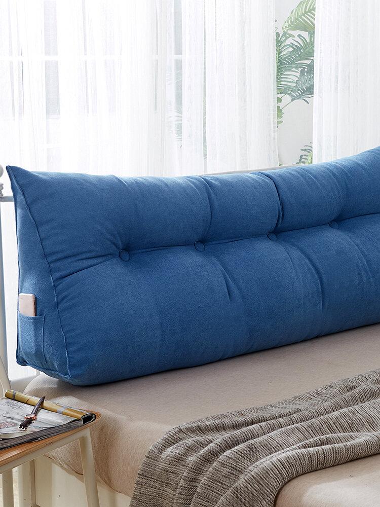 <US Instock> متعدد الألوان إسفين وسادة مثلثة وسادة السرير وسادة مسند الظهر تحديد الدعم وسادة القراءة وسادة مكتب وسادة قطني Soft