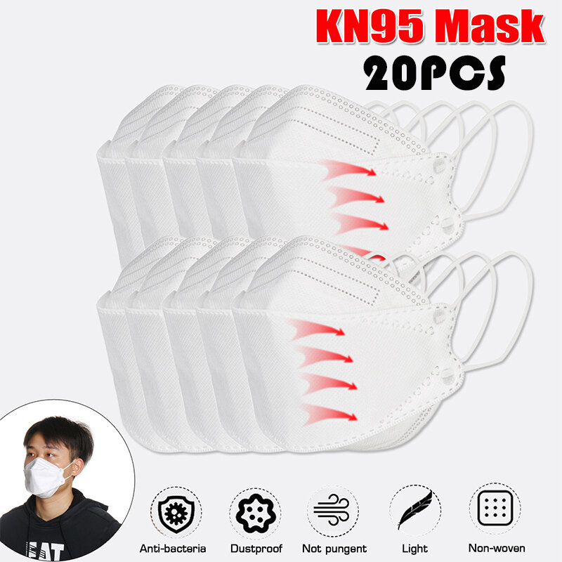 <US Instock> 20 Pcs KN95 Masks CE Certification Passed The GB-2626-KN95 Test PM2.5 Filter Mask