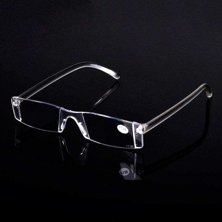 Portable Rimless Reading Glasses Light Flexible Presbyopia Eyeglasses Resin Lens Ultra Lightweight