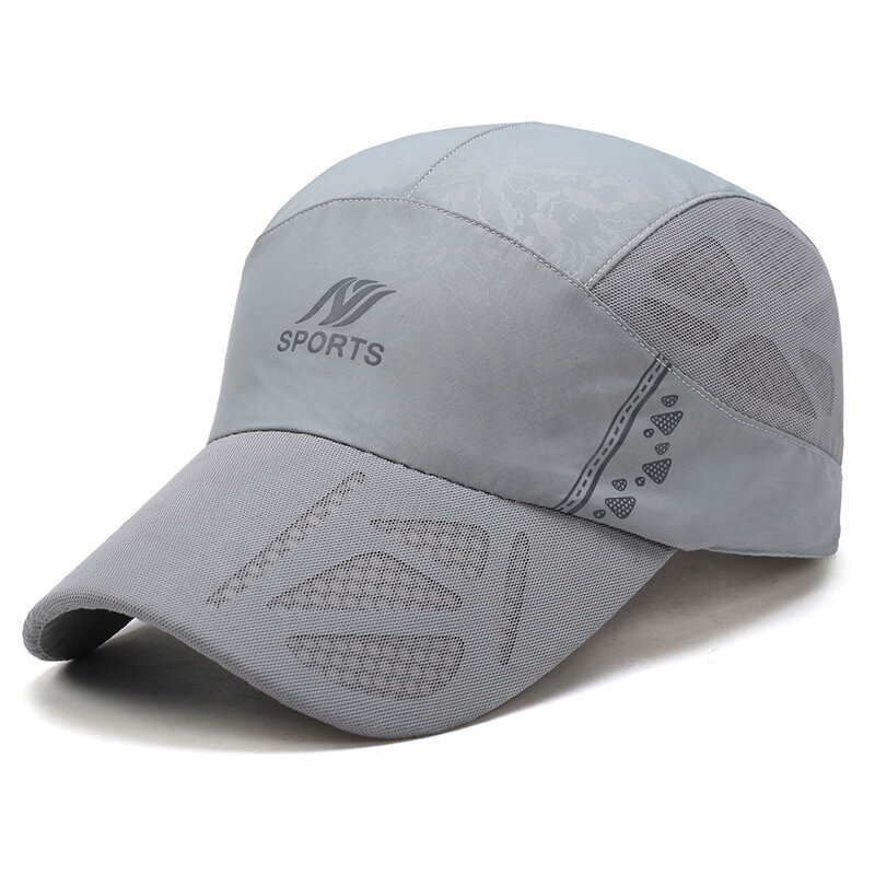 cb9ff246 Men Women Ultra-thin Breathable Quick-drying Mesh Baseball Cap Outdoor  Casual Carved Net Hat Cheap - NewChic