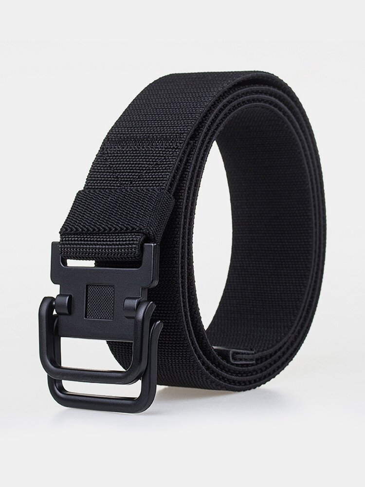 Men Plate Buckle Canvas Belt Sport Durable Pants Strip Outdoor Wild Casual Belt