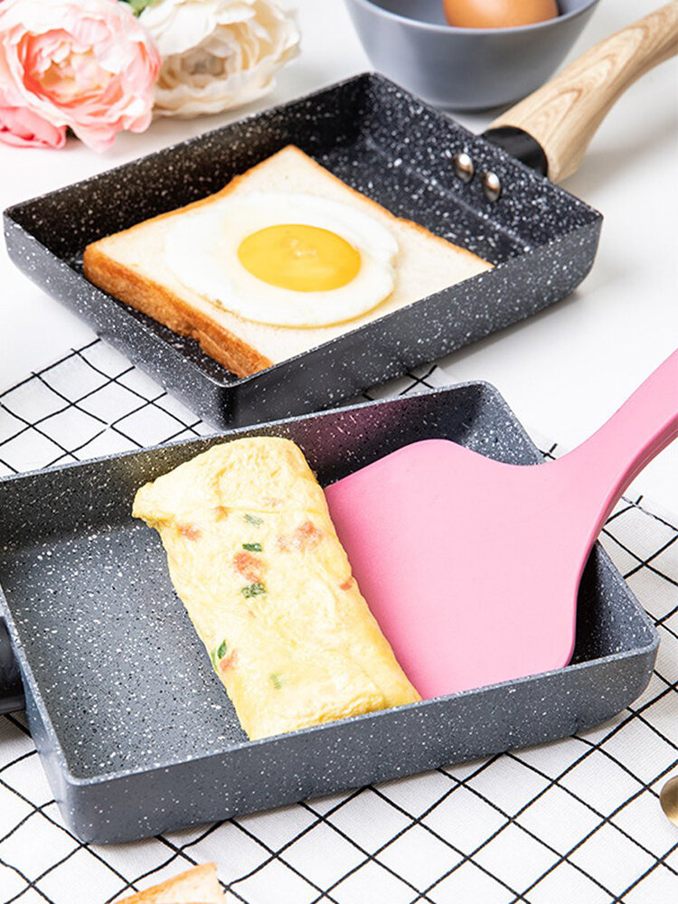 Kitchen Portable Non-stick Medical Stone Coating Frying Pan Omelette Roll Maker Pot