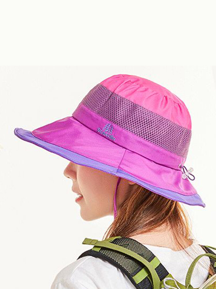 Mens Women Sunscreen Summer Bucket Hat Outdoor Sunshade Breathable Mesh Fisherman Cap