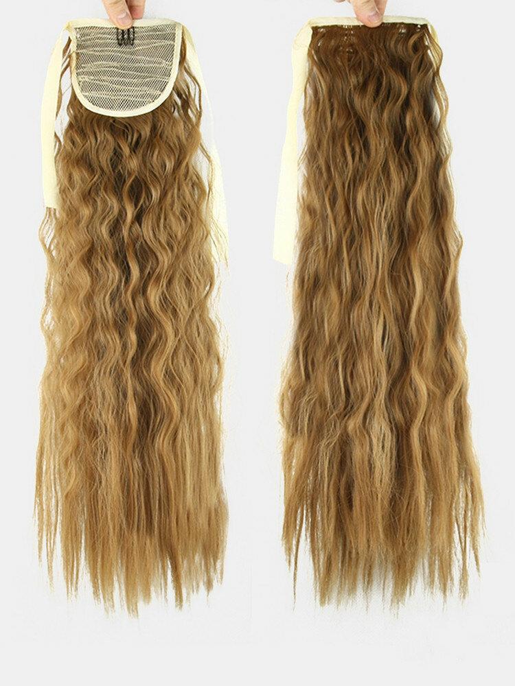 10 цветов конский хвост Волосы удлинительный галстук Веревка кукурузная пермская коса длинный вьющийся хвост