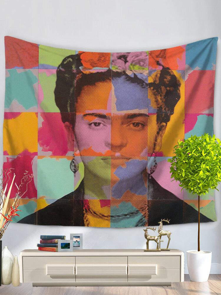 Настенные висячие цветы, гобелен Фриды Кало, украшение из ткани Фриды, настенный гобелен