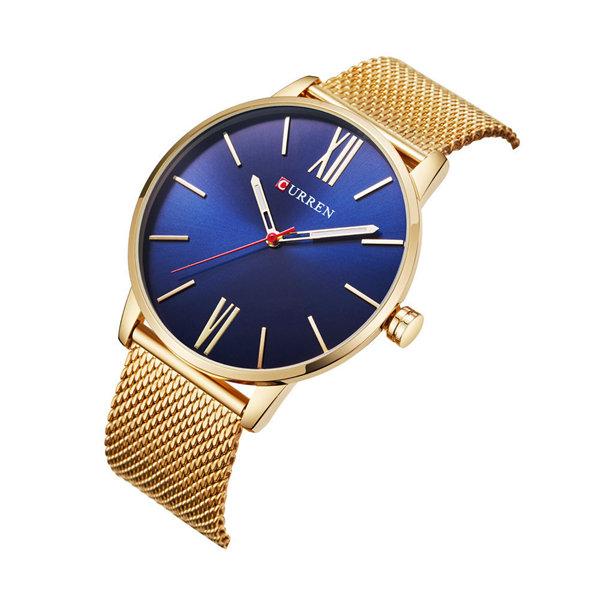 d49ba076a5df2f CURREN CURREN Montre Luxe Étanche Extra Plate Montre-bracelet Mode  Décontractée en Acier Inoxydable pour Homme montre à la mode pas cher -  Newchic.