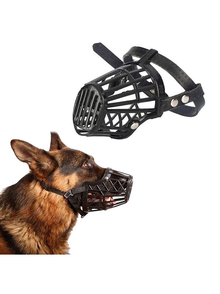 7 Sizes Choices Adjustable Pet Dog No Bark Bite Nylon Basket Muzzle Dog Training Mouth Mask
