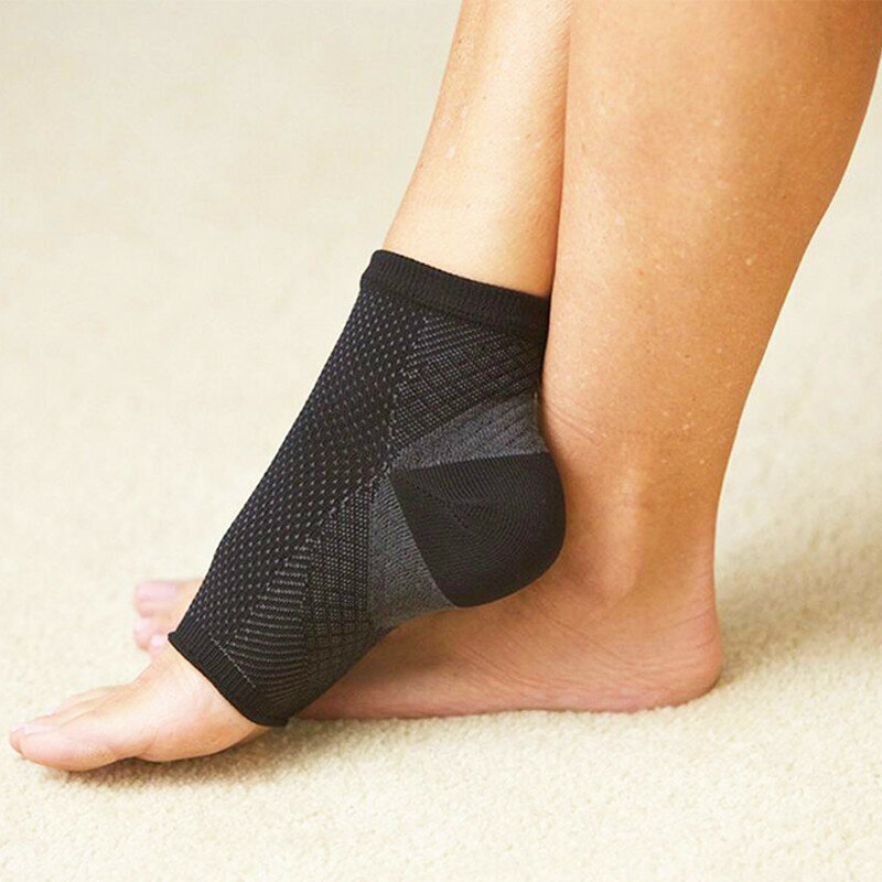 edc89d88bf Mens Women Comfort Foot Anti Fatigue Compression Sleeve Relieve Swelling  Varicosity Socks