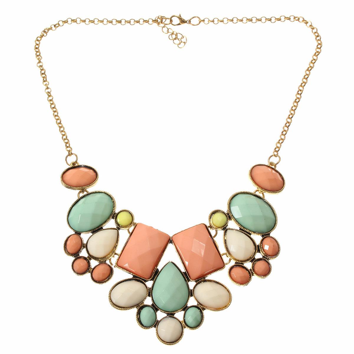 Vintage Crystal Alloy Necklace