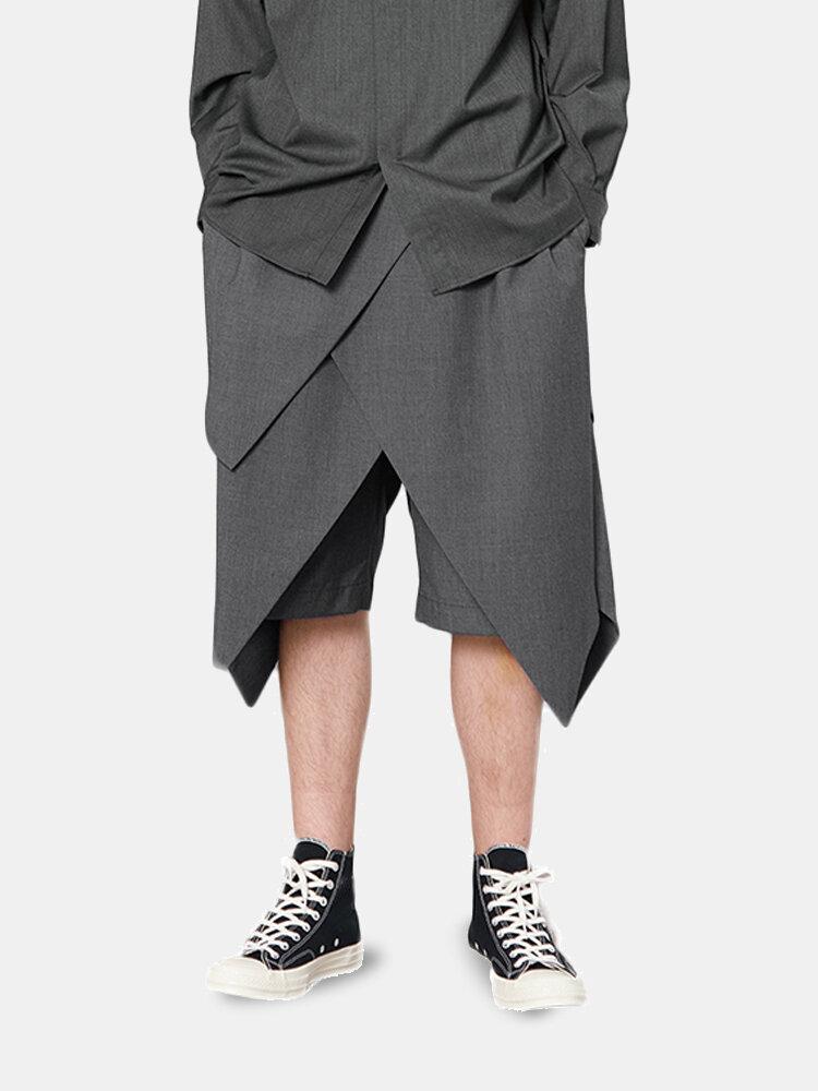 男性マルチレイヤー戦士鎧コスプレ膝丈スーツショーツ