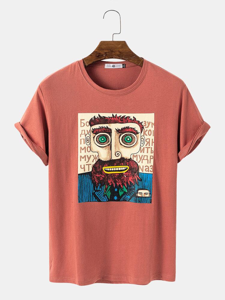 T-shirt décontracté imprimé en coton pour hommes
