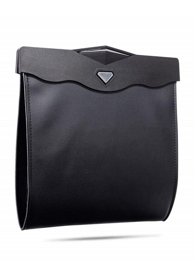 Car Storage Bag Hanging Hidden Folding Storage Bag Multi-Function LED Light Garbage Bag