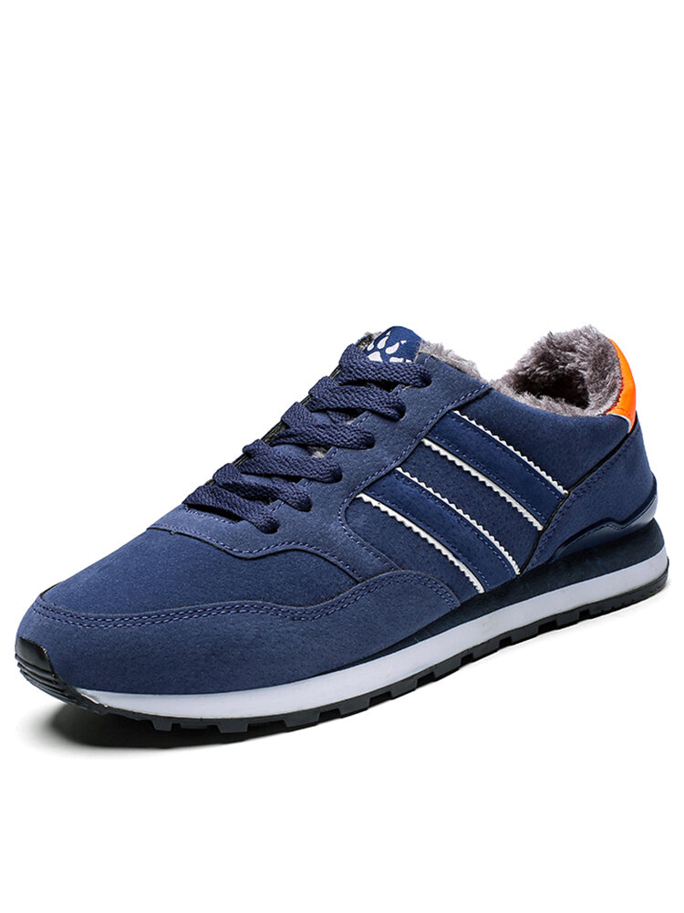 Men Sport Comfy Warm Lined Non Slip Soft Casual Sneakers