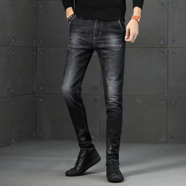 New Trend Stretch Slim Men's Jeans Men's Youth Soft Breathable Feet Trousers