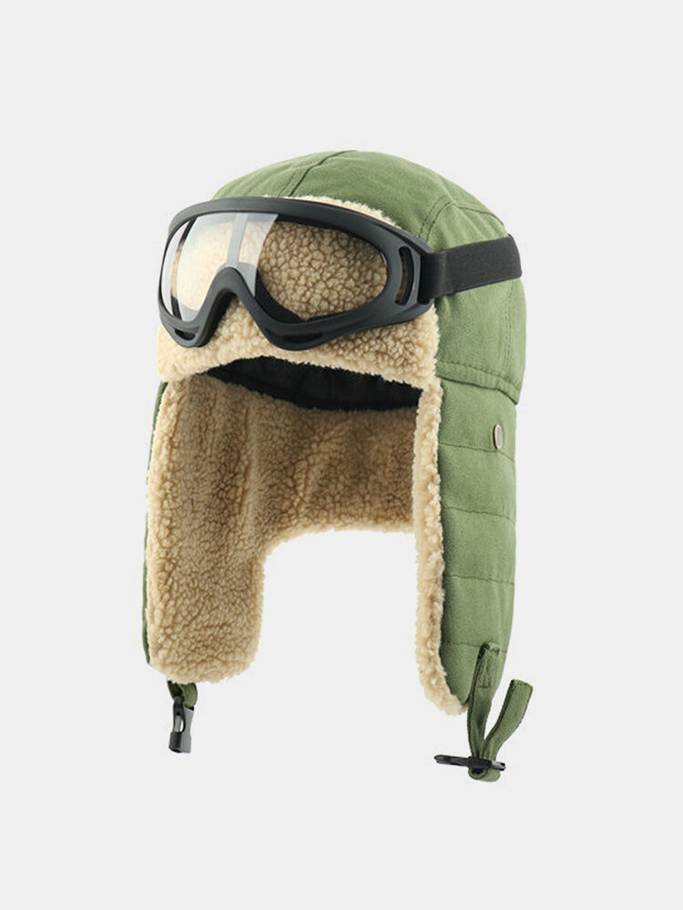 Men Cold-proof Winter Trapper Hat Wool Thick Winter Hat Ear Protection Trapper Hat