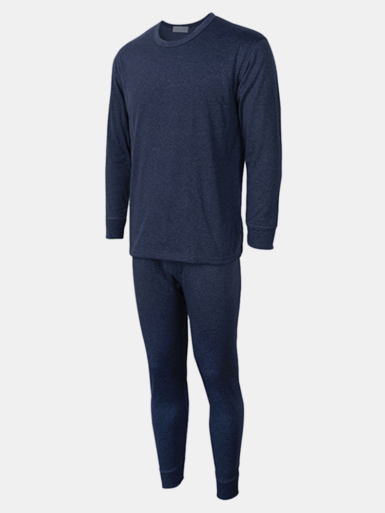 Casual Thermal Velvet Thickening 37 Degrees Thermostatic Pajama Sets for Men