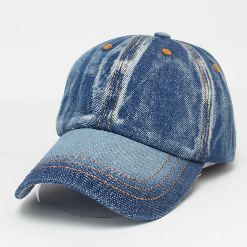 Mens_Women_Vintage_Solid_Color_Denim_Baseball_Cap_Casual_Travel_Visor_Snapback_Caps_Jeans_Hat