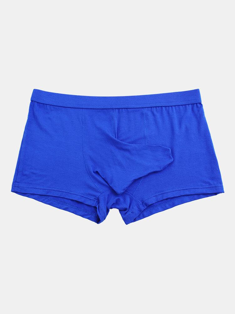 Mens Sexy Modal Elephant Boxer Briefs Breathable Shaped Plain Underwear