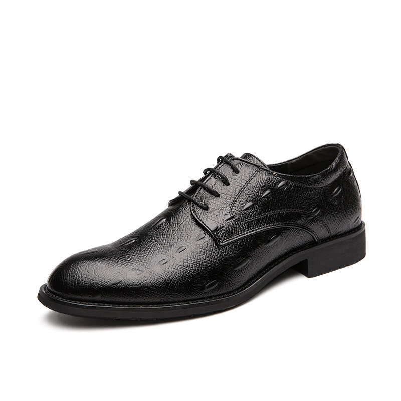 Men Leather Formal Lace-up Business Casual Dress Shoes