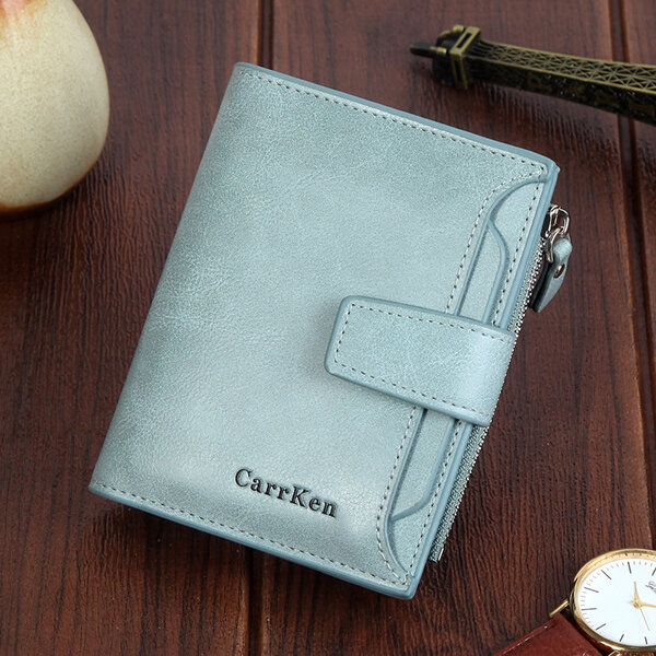 Women Faux Leather Retro Personalized Wallet Card Holder Coin Purse (SKUA19415) photo