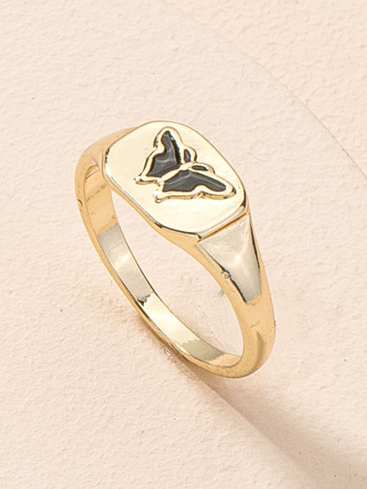 Alloy Ins Hip-hop Butterfly Index Finger Ring Street Shooting Ring