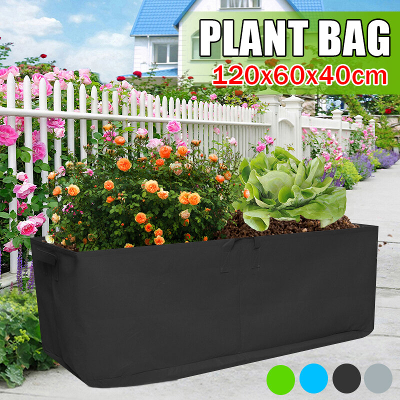 Fabric Square Garden Growing Bag Strawberry Plant Bag Vegetables Cup Nursery Flowerpot Tub Container
