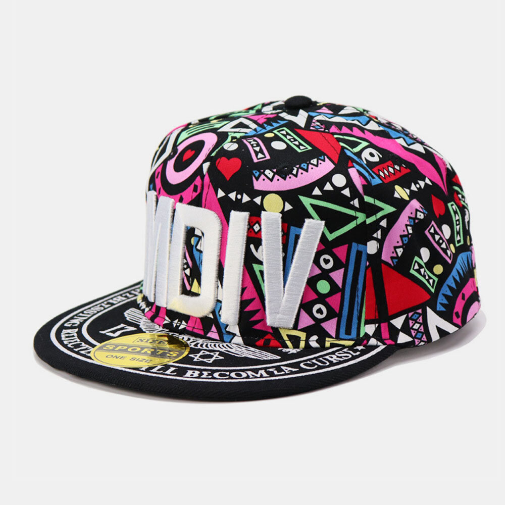 Embroidery Printing Floral Baseball Hat Summer Street Dance Wild Flat-edge Hat Mens Caps
