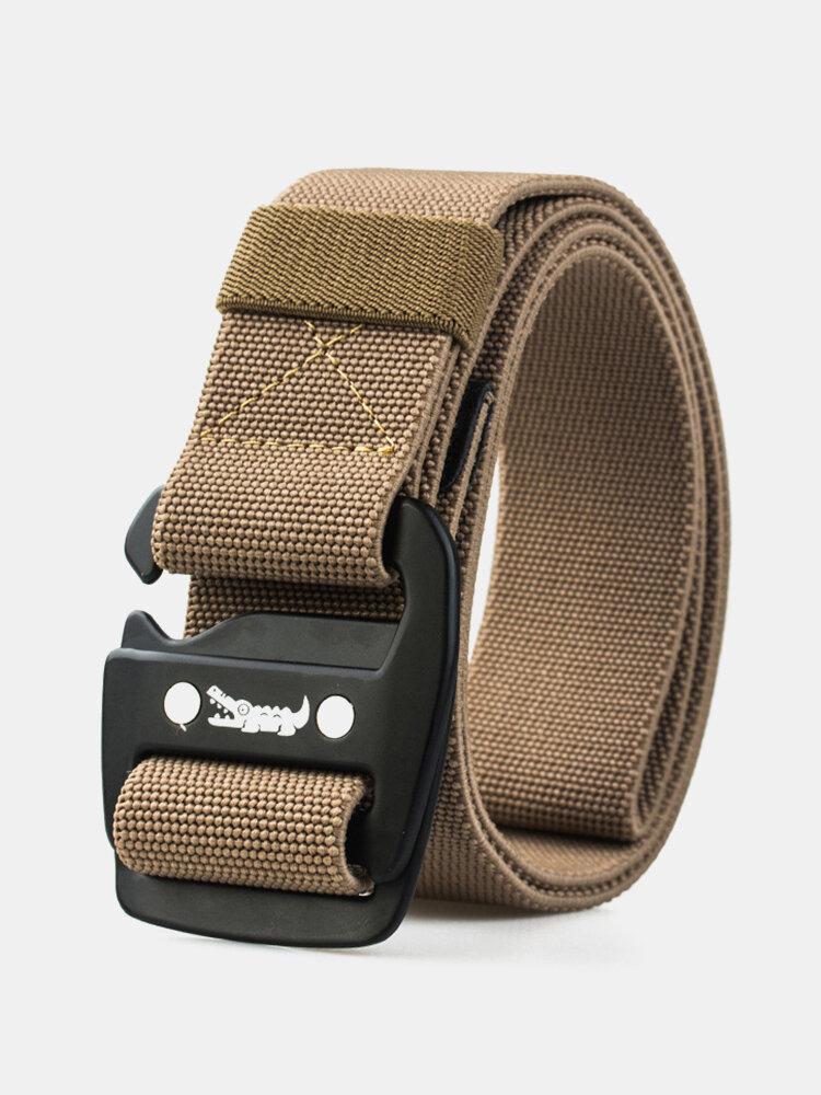 Men Wide Brim Alloy Buckle Polyester Material Belt Outdoor Train Multi-functional Cobra Belt