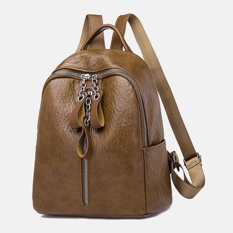 Women Casual Anti Theft Backpack Headphone Plug Backpack