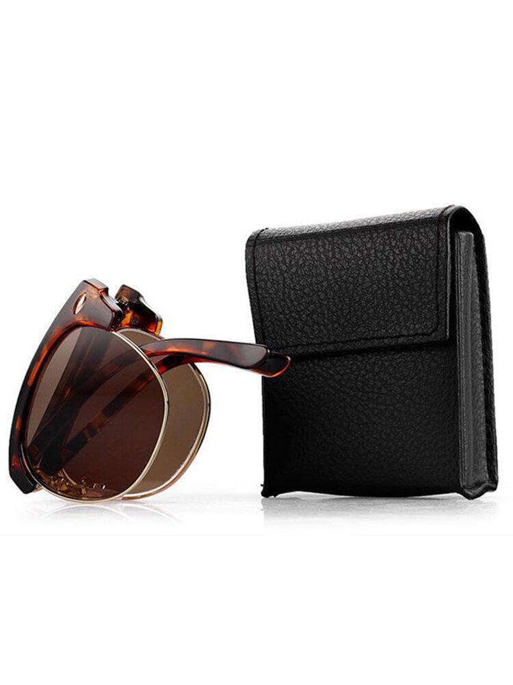 Women Men Vintage Presbyopic glasses Fold Metal Frame Sunglasses Reading Glasses With Glasses Case