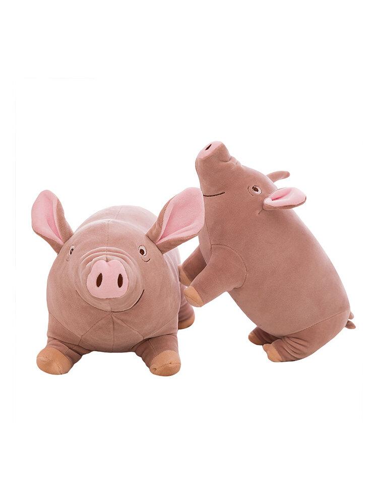 35/45cm Cute Pig Pillow Resilient Velvet Child Gift Toys Down Cotton Stuffed Pig Cushion