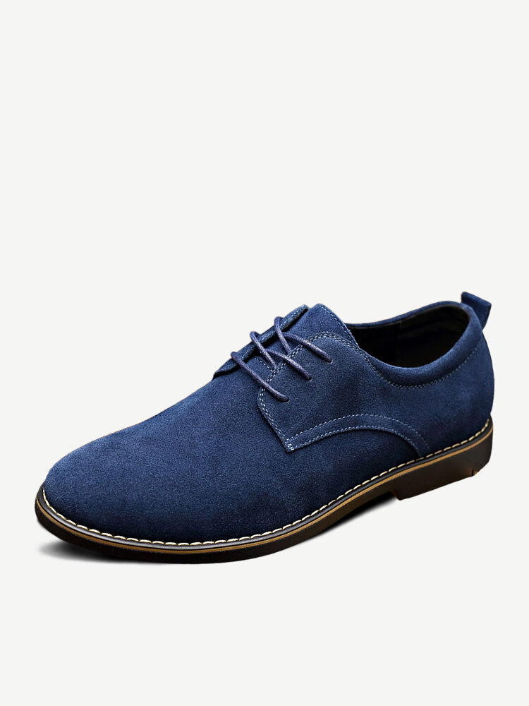 Men British Style Suede Oxfords Lace Up