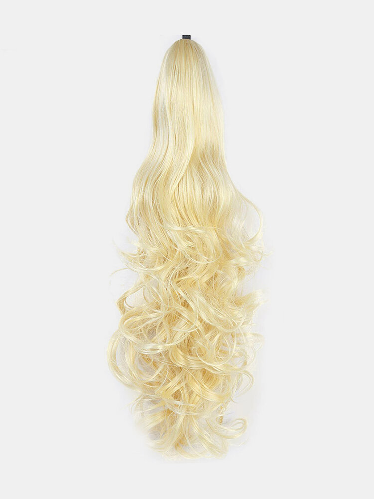 6 Colors Catch Clip Long Curly Hair Fluffy Messy High Ponytail Wig Piece