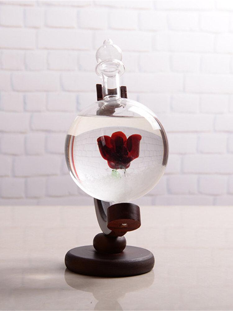 Xmas Weather Forecast Crystal Globe Shape Storm Glass Home Decor Christmas Gift