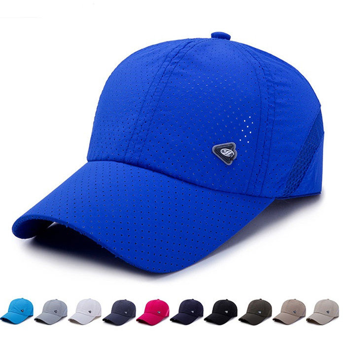 Unisex Summer Breathable Adjustable Mesh Hat Quick Dry Cap Outdoor Sports Baseball Hat