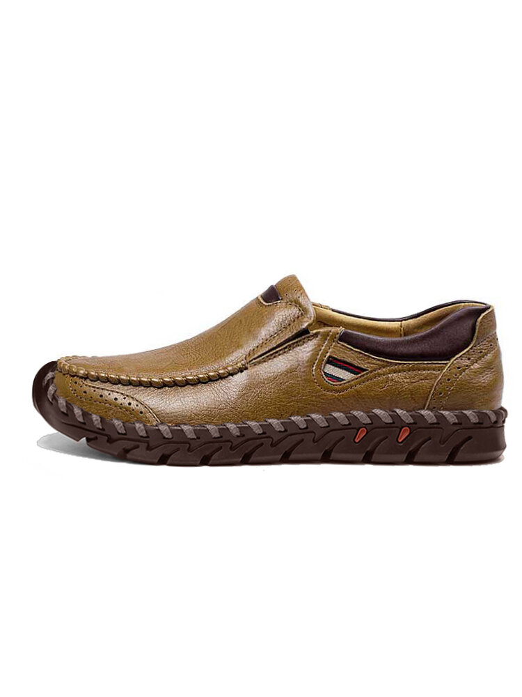 Men Hand Stitching Large Size Outdoor Work Flats