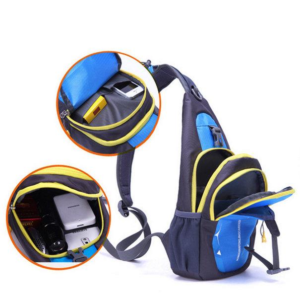 Men Nylon Crossbody Bag Chest Pack Outdoor Travel Bag
