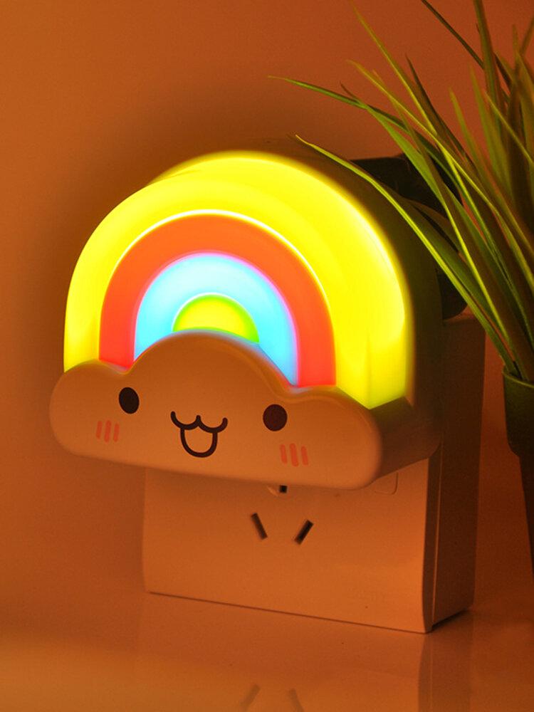 Night Light Cartoon Lovely Rainbow Clound Shaped LED Light Bedroom Home Decor