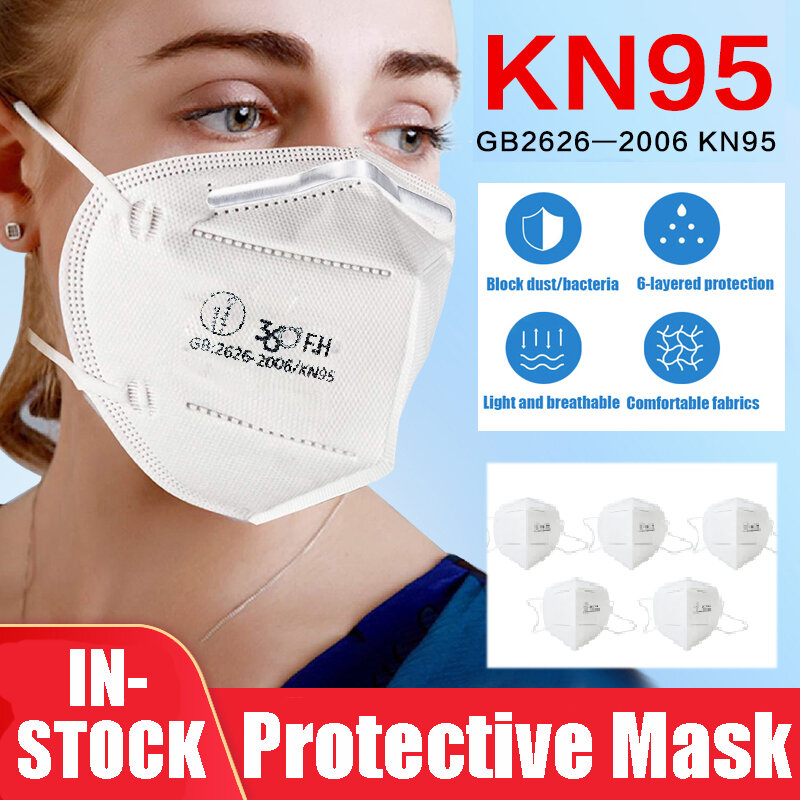 10PC KN-95 Face Mask Anti Dust Surgical Bacteria Filter Respirator CE pass