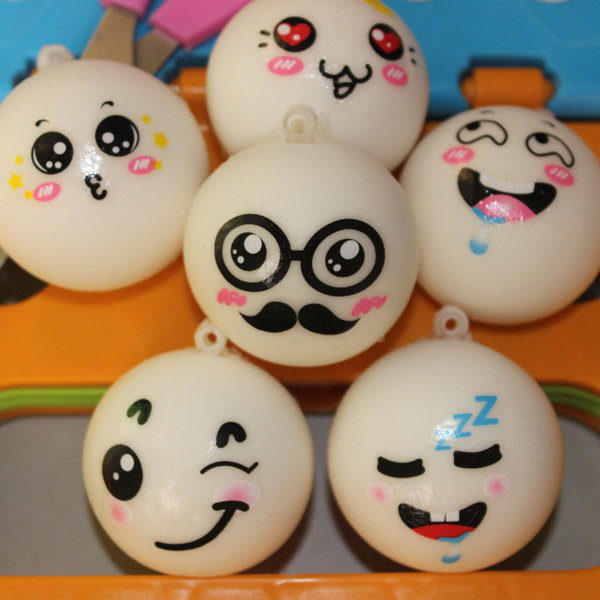 Cute Face Fragrant Bread Model Squishy Toys Stress Reliever Cell Phone Chain